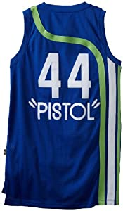 NBA Atlanta Hawks Navy Swingman Jersey Pete Maravich #44 by adidas