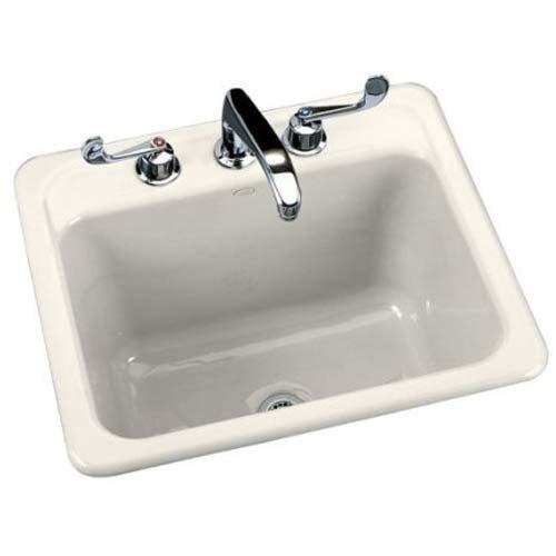 Buy KOHLER Glen Falls Self-Rimming Laundry Sink, Biscuit #K-6749-3-96 (Kohler Sinks, Plumbing, Sinks, Utility)