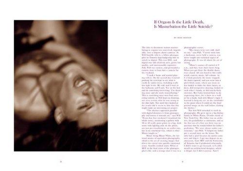 Will Santillo: La Petite Mort: Female Masturbation, Fantasies & Orgasm