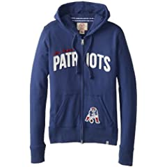 NFL New England Patriots Ladies Pep Rally Full Zip Hoodie by