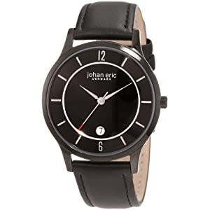 Johan Eric Men's JE2003-13-007 Hobro Black Dial Leather Watch