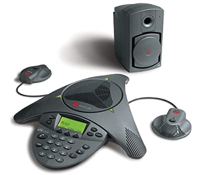 Polycom SoundStation VTX1000 with Mics and Subwoofer from Polycom Inc.
