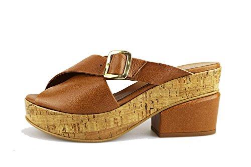 JEANNOT sandali donna 40 EU marrone pelle AG434