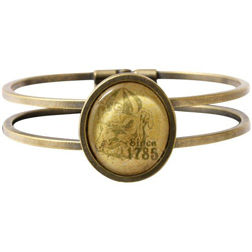 Georgia Bulldogs Vintage Antique Brass Bracelet