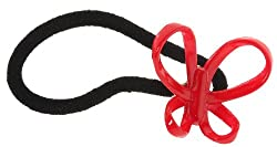 Trendy Baubles Red Butterfly Rubberband