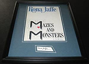 Rona Jaffe Signed Framed 11x14 Photo Display Mazes and Monsters