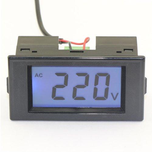 Drok Lcd 80-500V Ac Digital Panel Volt Meter Voltmeter Guage 110V/220V Voltag...