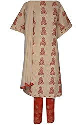 ADA Traditional Ethnic Needlecraft Embroidered Suit Piece For Women