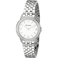 Bulova Women's Diamond Silver Stainless-Steel Quartz Watch