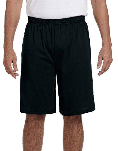 Augusta Sportswear 50/50 Jersey Shorts, 2XL, BLACK