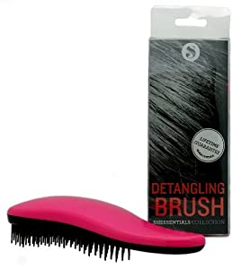 SHESSENTIALS Detangling Hair Brush for Smooth and Pain-free Styling to Reduce Hair Loss and Breakage - Perfect for Every Type of Thick, Fine, Black, Natural, Curly, or Thin Hair - The Ultimate Detangler for Adults and Kids, Wet or Dry Hair (Pink)