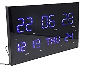 Amazon.com: Slim & Large Metal & Glass Digital Clock Jumbo