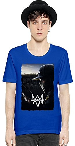 Watch Dogs 2 Poster Manica corta da uomo T-shirt Medium