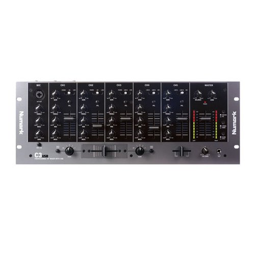 Check Out This Numark C3USB Five-Channel Mobile DJ Rack Mixer with USB I/O