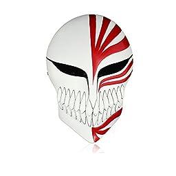 DASHUHUWAI (TM) Melody Venetian Mardi Gras Masquerade Bleach Ichigo Kurosaki Full Hollow Halloween Cosplay Movie theme mask original made of quality resin Red