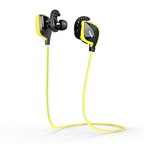 Merit Bluetooth 4.1スポーツタイプ ステレオイヤホン ワイヤレスヘッドセット 防汗 イエロー -