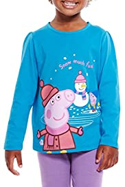 Pure Cotton Peppa Pig & Snowman T-Zhirt [T77-4466J-Z]