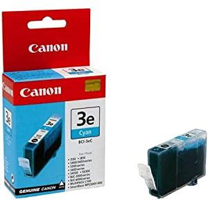 Genuine Compatible Canon Premium Quality Cyan Inkjet Cartridge compatible with the Canon (BCI-3eC) 4480A003AA (340 page yield)