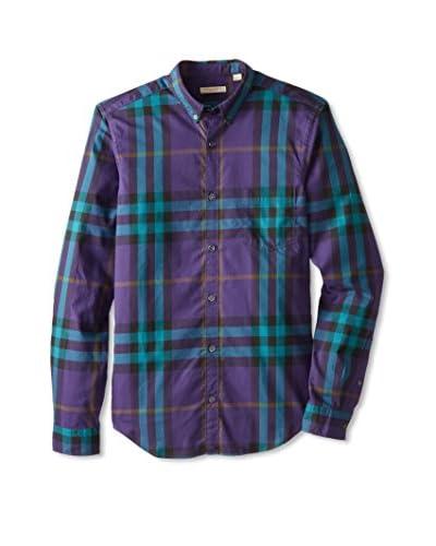 Burberry Men's Plaid Long Sleeve Shirt