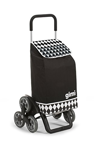 Gimi Tris Optical Carrello Portaspesa, Nero
