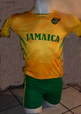 CHILDRENS,KIDS,BOYS, GIRLS, UNISEX JAMAICA GREEN SOCCER KIDS SETS JERSEY & SHORT SIZE 4T MEDIUM FOR ages 3 TO 4 YEARS OLD