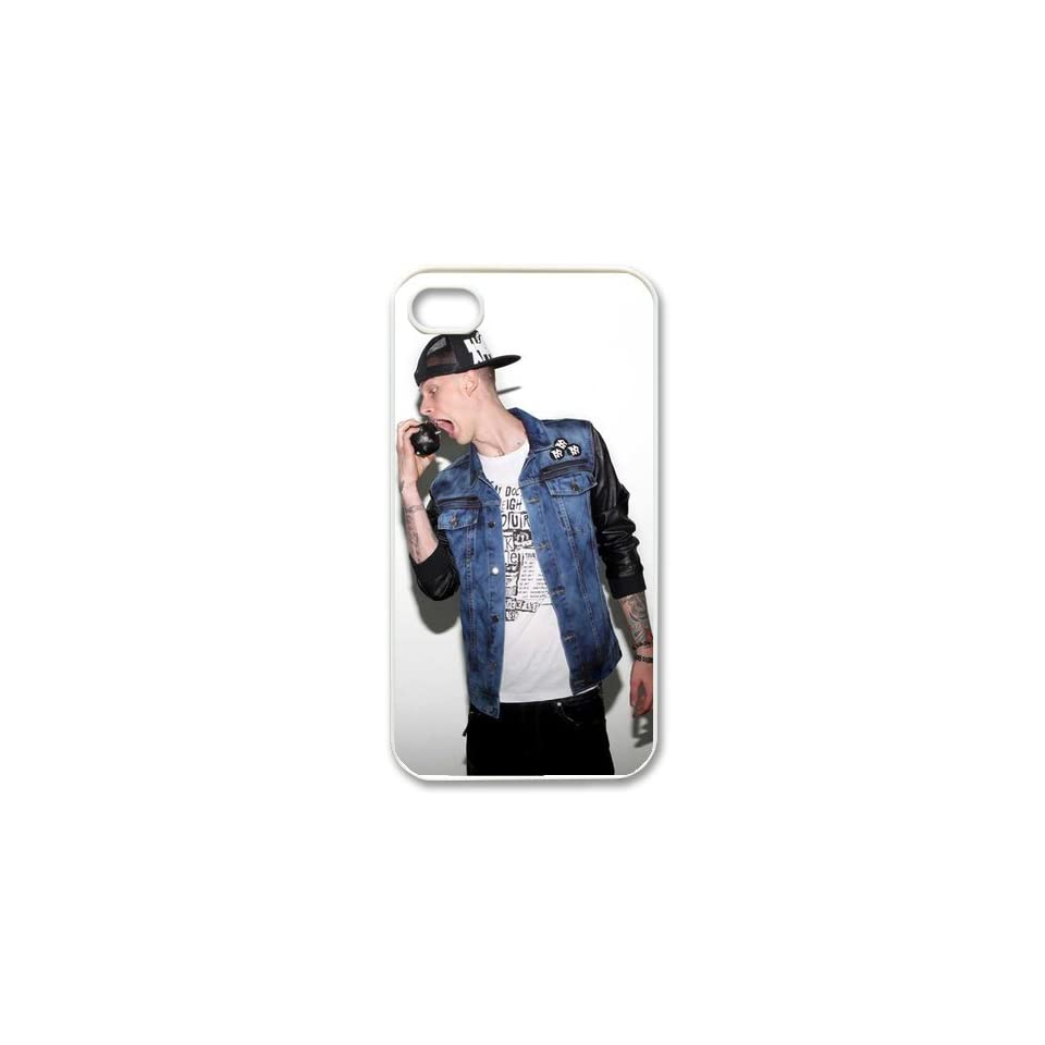 Machine Gun Kelly Custom Case for iPhone 4 4S, VICustom iPhone Protective Cover(Black&White)   Retail Packaging