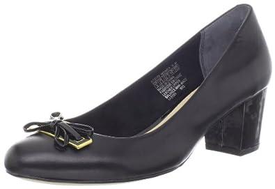 乐步Rockport 女士时尚真皮高跟鞋Phaedra Ornament 黑色 $53.98