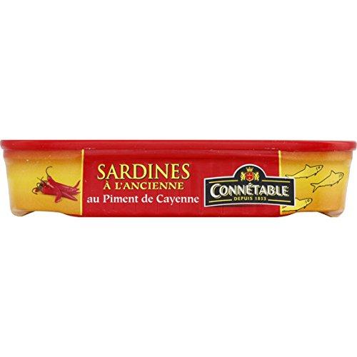 Connétable - Sardines à l'ancienne à l'huile d'olive vierge extar au piment decayenne - La boîte de 115g - (pour la quantité plus que 1 nous vous remboursons le port supplémentaire)