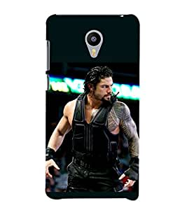printtech Wrestler Roman Cool Back Case Cover for meizu m2