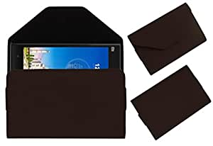 Acm Premium Pouch Case For Xiaomi Mi3 Flip Flap Cover Holder Brown