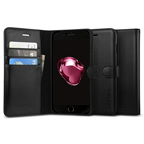 Spigen-Valentinus-iPhone-7-Plus-Case-with-Foldable-Genuine-Leather-Cover-and-Kickstand-Feature-for-iPhone-7-Plus-Black