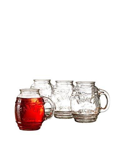 Circleware Set of 4 Family Recipe 26-Oz. Mugs