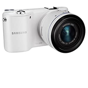 "Samsung NX2000 20.3MP CMOS Smart WiFi Compact Interchangeable Lens Digital Camera with 20-50mm Lens and 3.7"" Touch Screen LCD (White)"