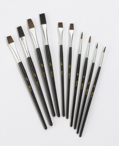Harris Taskmasters Artists 10 Paint Brushes Set