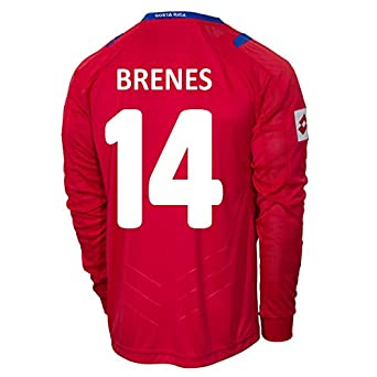 Buy Lotto BRENES #14 Costa Rica Home Jersey World Cup 2014 (Long Sleeve) by Lotto