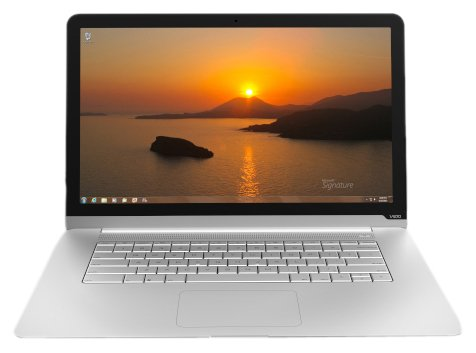 Vizio CT14-A0 14-Inch Thin Light Ultrabook Laptop PC (1.80GHz Intel Core i3-3217U Processor, 4GB RAM 128GB SSD Windows 7 Home Premium) Silver