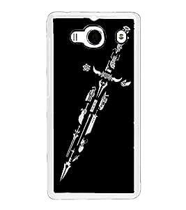 Sword 2D Hard Polycarbonate Designer Back Case Cover for Xiaomi Redmi 2S :: Xiaomi Redmi 2 Prime :: Xiaomi Redmi 2