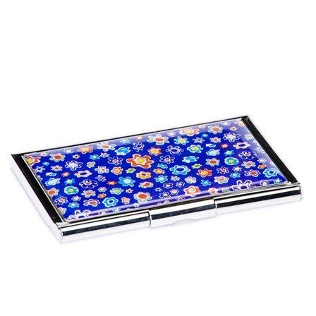 Blue Flower Business Card Case