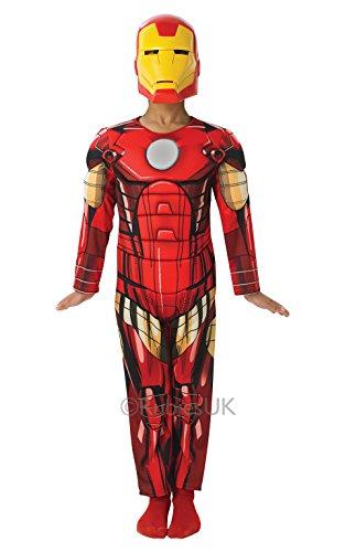 Iron Man The Avengers Deluxe Kostüm für Kinder, Größe:L