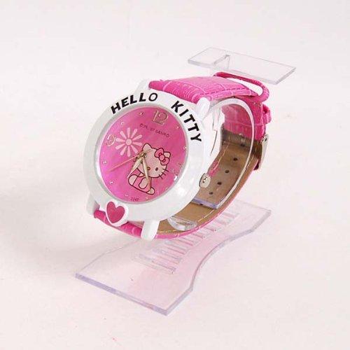 Hello Kitty Heart Wrist Watch Wristwatch Band Rose