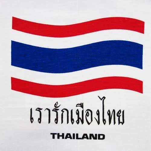 【T-shirts】Tシャツ★タイランド国旗(ホワイト)