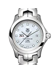 Chi Omega Women's TAG Heuer Link Watch with Mother of Pearl Diamond Dial