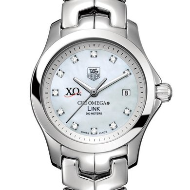 Chi Omega Women's TAG Heuer Link with MOP Diamond Dial