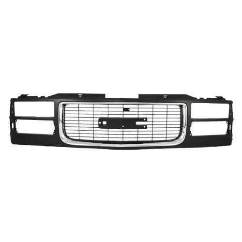 CarPartsDepot, Front Composite Type Black Plastic Body Grille Chrome Trim Molding, 400-15365 GM1200392 12388709 (1994 Gmc Sierra Grille compare prices)