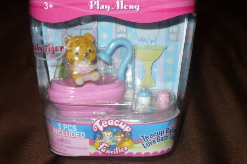 Teacup Families Play Along Baby Tiger Bath Time Set