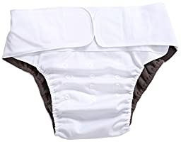 Wegreeco Adult Cloth Diapers One Size Fit All Ultra Absorbent - Reusable Diaper for Incontinence Adults Or Teen(White)