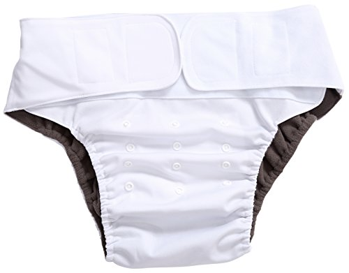 Wegreeco Adult Cloth Diapers One Size Fit All Ultra Absorbent - Reusable Diaper for Incontinence Adults Or Teen(White) (Kids Bed Liners compare prices)