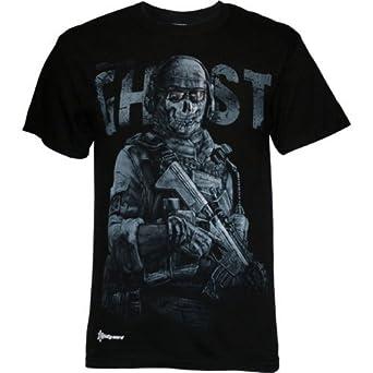 Call of Duty: Modern Warfare 2 Ghost Men's Slim Fit T-Shirt, X-Large