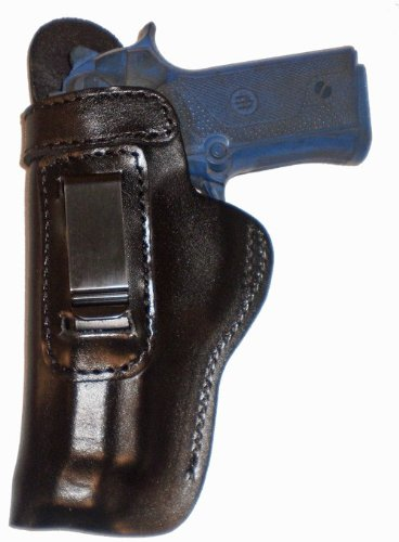 Cz P01 Heavy Duty Black Left Hand Inside The Waistband Concealed Carry Gun Holster With Slide Guard Bodyshield