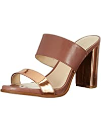 Nine West Women S Pretty Princess Leather Heeled Sandal Natural/Natural 6 B(M) US